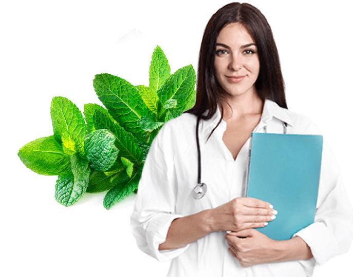 farmaceutica con plantita